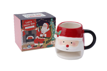 Santa Snack Holder Christmas Gift Mug