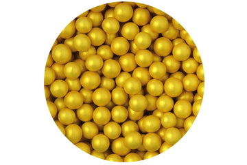 Small Choco Balls Gold edible Cake or Cupcake Decorations