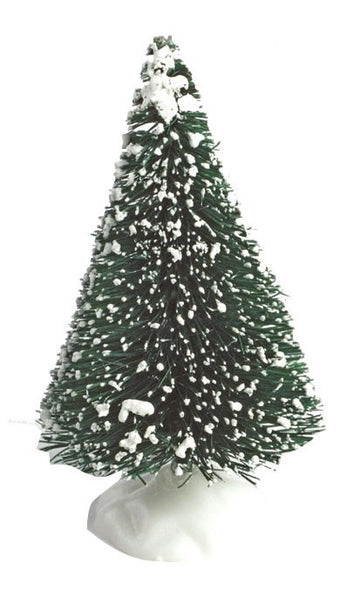 Snow Covered Bristle Christmas Tree  - Ideal for Christmas Cakes and Yule Logs