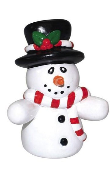 Snowman Plastic Standing Cake, Yule Log or Cupcake Christmas Decoration