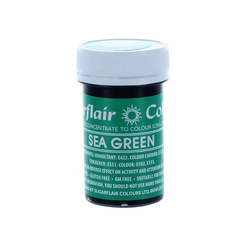 Sugarflair Paste Colours - Sea Green - 25g - Concentrated Edible Food Colouring
