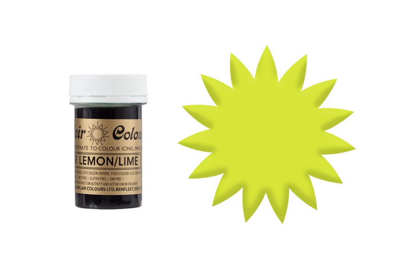 Sugarflair Paste Colour - Bitter Lemon / Lime - 25g Concentrated Edible Food Colouring - The Cooks Cupboard Ltd