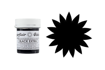 Sugarflair Paste Colour - Black Extra - 42g Concentrated Edible Food Colouring
