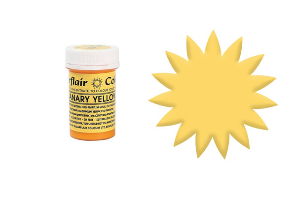 Sugarflair Paste Colour - Canary Yellow - 25g Concentrated Edible Food Colouring