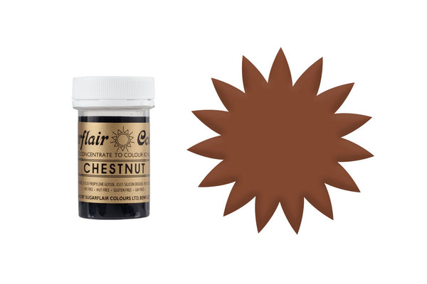 Sugarflair Paste Colour - Chestnut Brown - 25g Concentrated Edible Food Colouring