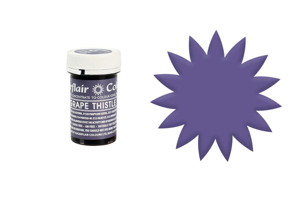 Sugarflair Paste Colour - Grape Thistle - 25g Concentrated Edible Food Colouring