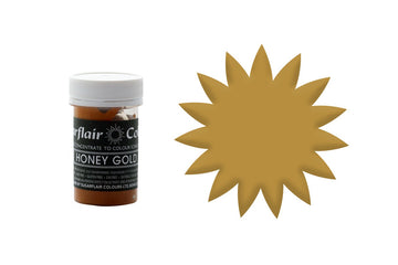 Sugarflair Paste Colour - Honey Gold - 25g Concentrated Edible Food Colouring