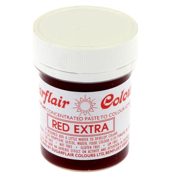 Sugarflair Paste Colour - Red Extra - 42g Concentrated Edible Food Colouring