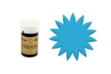 Sugarflair Paste Colour - Turquoise Blue - 25g Concentrated Edible Food Colouring