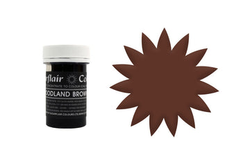 Sugarflair Paste Colour - Woodland Brown - 25g Concentrated Edible Food Colouring