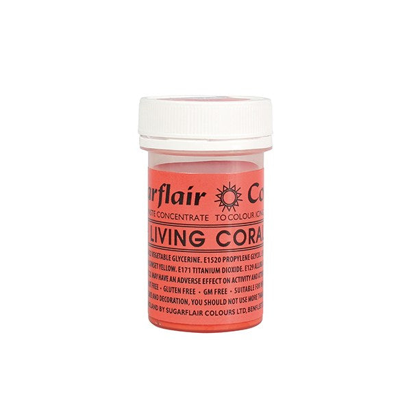Sugarflair Spectral Paste Food Colour - Living Coral - 25g Concentrated Edible Food Colouring