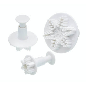 Sweetly Does It Set of 3 Snowflake Fondant Plunger Cutters