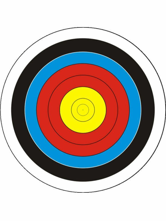 Target shooting archery sport Personalised Edible Cake Topper Round Icing Sheet