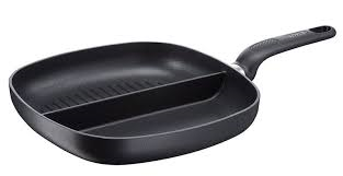 Tefal Ideal 26cm Non Stick Frying Fry Pan Aluminium 2 Compartment Divided Frypan