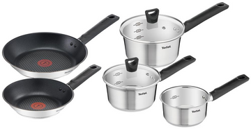 Tefal Simpleo Stainless Steel Frying Pan & Saucepan Set, 5 Piece
