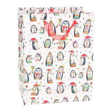 Turnowsky Christmas Gift Bag Penguin Medium