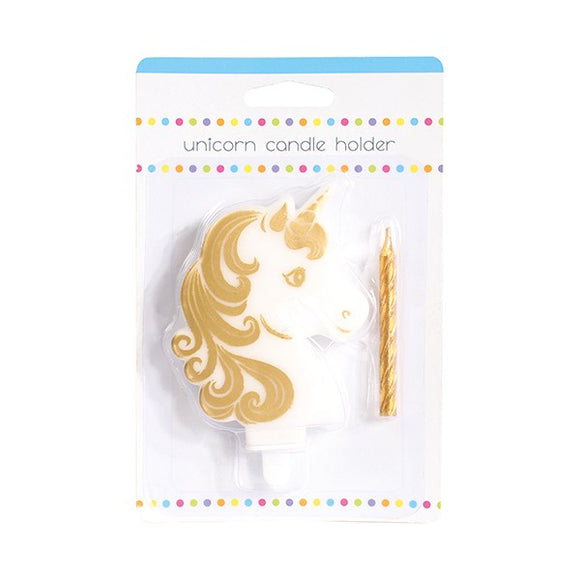 Unicorn Feature Celebration Cake Candle