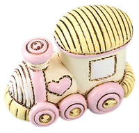 Pink and Yellow Train small Cake Topper