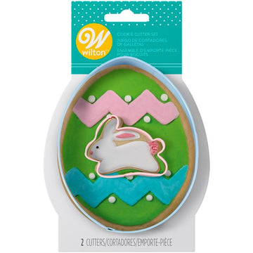Wilton Easter Egg and Bunny Cookie Cutter Set