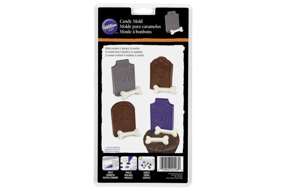 Wilton Chocolate Candy Mould - Tombstones - Ideal for Halloween