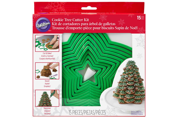 Wilton Cookie Christmas Tree Cutter Set - 15 piece set