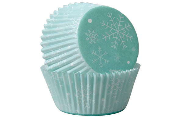 Wilton Cupcake Baking Cases - Snowflakes - Pack of 75