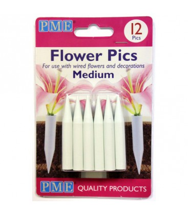PME Medium Flower Pics / Florist Spike pack of 12
