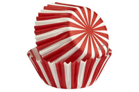Wilton Mini Baking Cases - North Pole - Pack of 100 Christmas Candy Stripe Petite Baking Cups