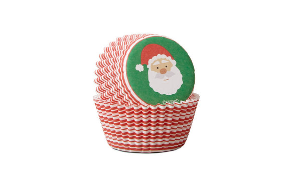 Wilton Mini Baking Cases - Santa - Pack of 100 - Ideal for Mini Cupcakes or Petit Fours