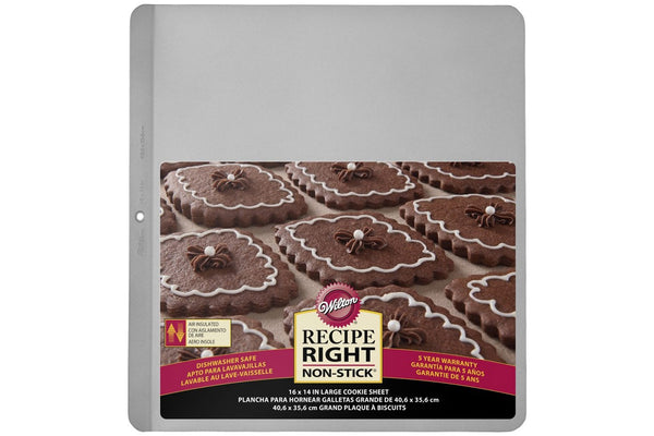 "Wilton Recipe Right 16 x 14"" Air Insulated Cookie Baking Sheet"
