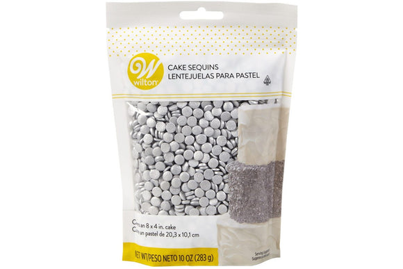 Wilton Silver Sequins Edible Confetti Sprinkles Bulk Pack