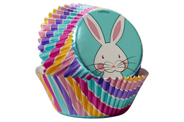 Wilton Cupcake Foil Baking Cases - Easter Bunny Bright Colourful - Pack of 24