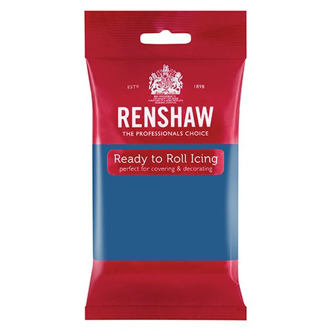 Renshaw Professional Sugar Paste Ready to Roll Icing - Atlantic Blue - 250g