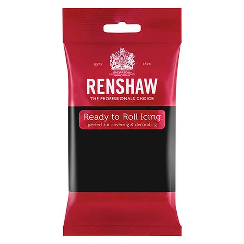 Renshaw Professional Sugar Paste Ready to Roll Icing - Jet Black - 500g