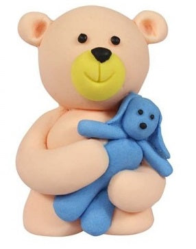 Cake Star Topper - Bear with Blue Rabbit