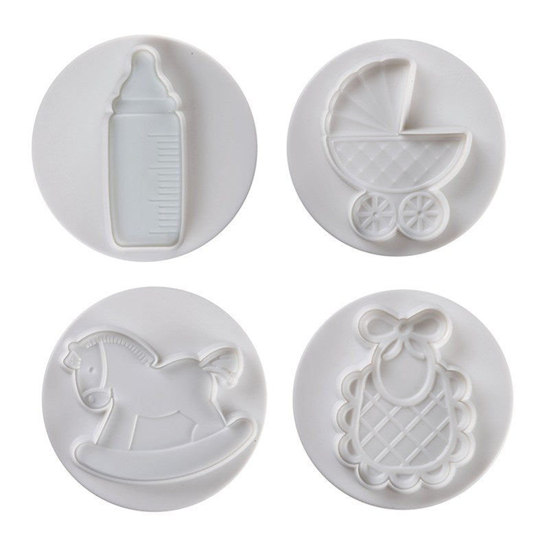 Pavoni Plunger Cutter Baby Big 4 piece Set - The Cooks Cupboard Ltd