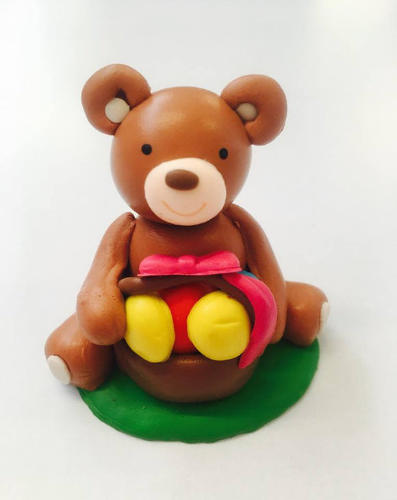 Teddy Bear Cake Topper Figure