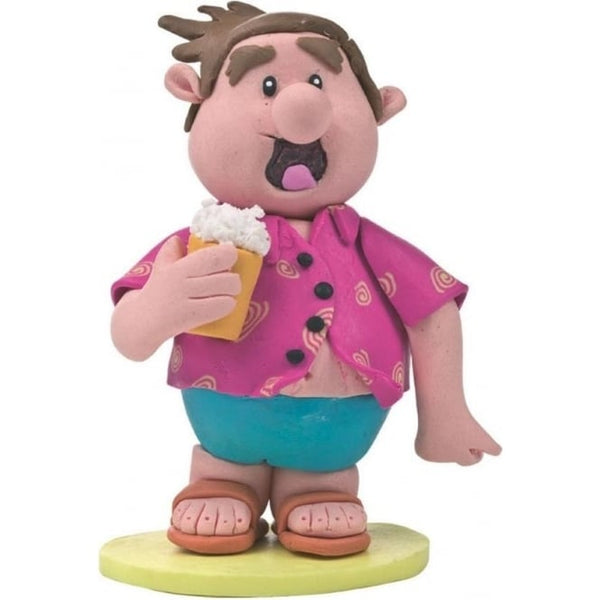 Man In Bright Shirt Holding a Beer on Holiday Cake Topper Figure
