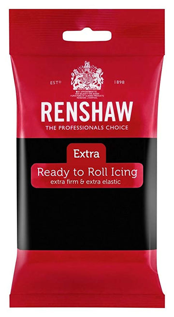 Renshaw Extra Sugar Paste Ready to Roll Icing - Black - 250g