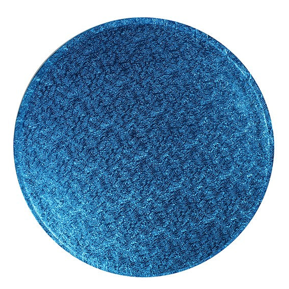 Round Cake Board Drum Blue 12""
