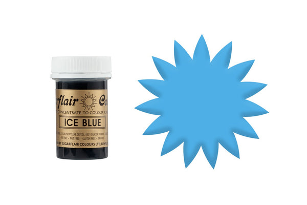 Sugarflair Paste Colours - Spectral -Ice Blue