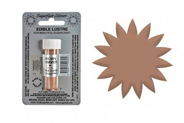 Sugarflair Edible Lustre Dust Brown Shimmer