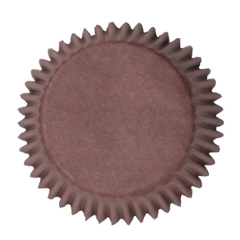Brown Plain Cupcake Baking Cases