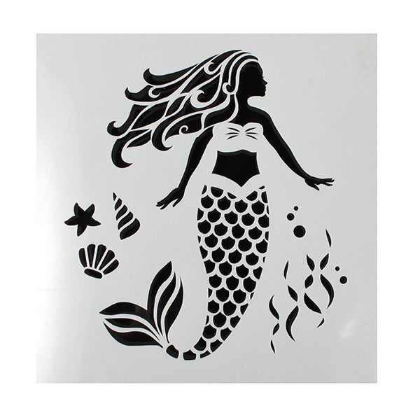 Cake Star Mermaid Stencil with shells design