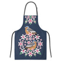 I Like Birds Blooms Navy Blue Apron Chaffinch