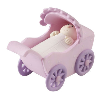 Claydough - Pink Pram cake topper