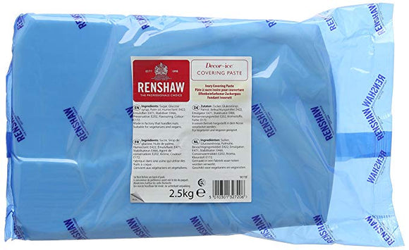 Renshaw Covering Sugar Paste Ready to Roll Icing - Celebration Ivory - 2.5KG