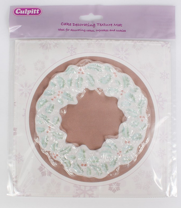 Christmas Wreath Texture Mat Embosser Mould