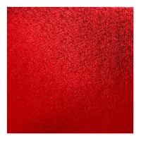 Square Cake Board Drum Red 12""