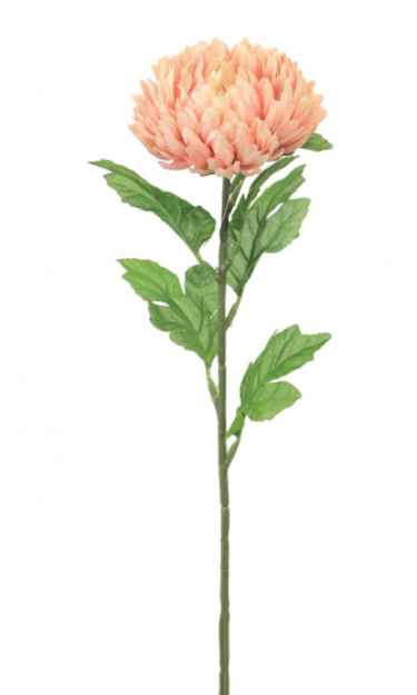 Artificial Floral Stem - Chrysanthemum Dusty Pink - The Cooks Cupboard Ltd